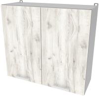 Шкаф навесной для кухни Интерлиния Компо ВШ80-720-2дв (дуб белый) -