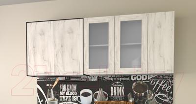 Шкаф навесной для кухни Интерлиния Компо ВШ80-720-2дв (дуб белый)
