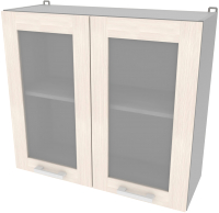 Шкаф навесной для кухни Интерлиния Компо ВШ80ст-720-2дв (вудлайн кремовый) -