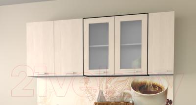 Шкаф навесной для кухни Интерлиния Компо ВШ80ст-720-2дв (вудлайн кремовый)
