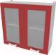 Шкаф навесной для кухни Интерлиния Компо ВШ80ст-720-2дв (красный) -