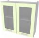 Шкаф навесной для кухни Интерлиния Компо ВШ80ст-720-2дв (салатовый) -
