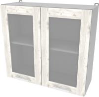 Шкаф навесной для кухни Интерлиния Компо ВШ80ст-720-2дв (дуб белый) -