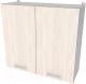 Шкаф навесной для кухни Интерлиния Компо ВШС80-720-2дв (вудлайн кремовый) -