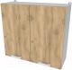 Шкаф навесной для кухни Интерлиния Компо ВШС80-720-2дв (дуб золотой) -