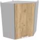 Шкаф навесной для кухни Интерлиния Компо ВШУ-720 (дуб золотой) -