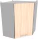 Шкаф навесной для кухни Интерлиния Компо ВШУ-720 (дуб молочный) -