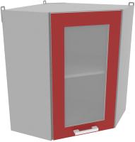 Шкаф навесной для кухни Интерлиния Компо ВШУст-720 (красный) -