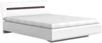 Двуспальная кровать BMK Ацтека LOZ 160 (белый/белый блеск/венге магия) -