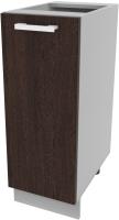 Шкаф-стол кухонный Интерлиния Компо НШ30р-1дв (дуб венге) -