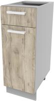 Шкаф-стол кухонный Интерлиния Компо НШ30рш1 (дуб серый) -