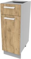 Шкаф-стол кухонный Интерлиния Компо НШ30рш1 (дуб золотой) -