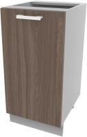 Шкаф-стол кухонный Интерлиния Компо НШ40р-1дв (шимо темный) -