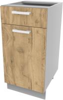 Шкаф-стол кухонный Интерлиния Компо НШ40рш1 (дуб золотой) -