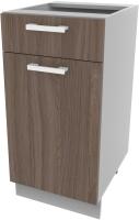 Шкаф-стол кухонный Интерлиния Компо НШ40рш1 (шимо темный) -