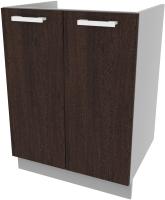 Шкаф под мойку Интерлиния Компо НШ60м-2дв (дуб венге) -