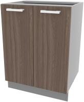 Шкаф-стол кухонный Интерлиния Компо НШ60р-2дв (шимо темный) -