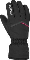 Перчатки лыжные Reusch Marisa / 6031150 7748 (р-р 6.5, Black/White/Pink Glo) -