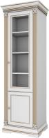 Шкаф с витриной WellMaker Патриция Элегант ШП2-60 (альпийский/латунь) -