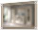 Зеркало WellMaker Патриция Элегант ЗН-100 (альпийский/латунь) -