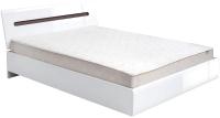 Каркас кровати BMK Ацтека LOZ 90 (белый/белый блеск/венге магия) -