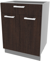 Шкаф-стол кухонный Интерлиния Компо НШ60рш1 (дуб венге) -