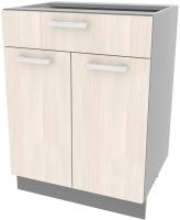 Шкаф-стол кухонный Интерлиния Компо НШ60рш1 (вудлайн кремовый) -