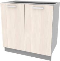 Шкаф-стол кухонный Интерлиния Компо НШ80р-2дв (вудлайн кремовый) -