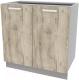 Шкаф-стол кухонный Интерлиния Компо НШ80р-2дв (дуб серый) -