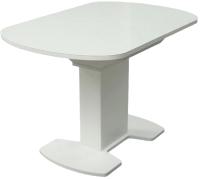 Обеденный стол Аврора Корсика стекло 120-151.5x80 (белый) -