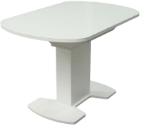 Обеденный стол Аврора Корсика стекло 110-141.5x70 (белый) -