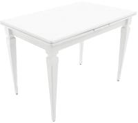 Обеденный стол Аврора Греция 1100 200x70x77 (эмаль белая) -