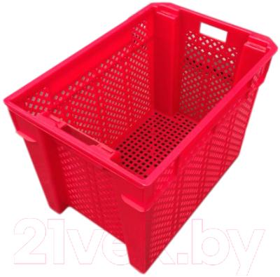 Ящик для хранения БИМАпласт Красный