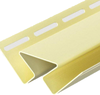 Угол для сайдинга Docke Dacha внутренний (3м, желтый) -