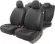 Чехол для сиденья Autoprofi Alcantara ALC-1505 BK/BK -