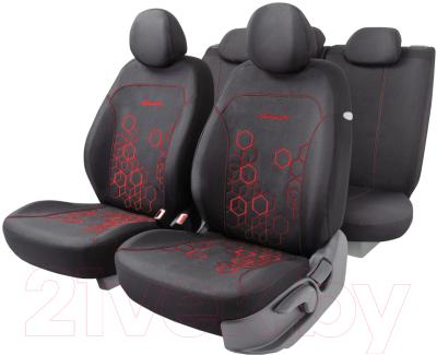 Чехол для сиденья Autoprofi Hologram HOL-1102 BK/RD