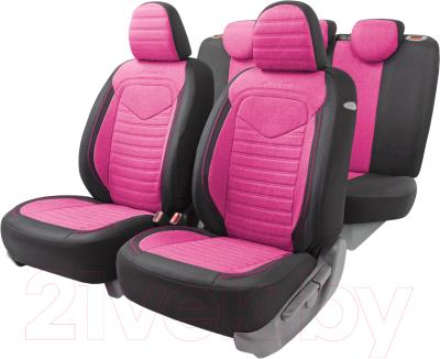 Чехол для сиденья Autoprofi Linen LIN-1505 BK/Flamingo
