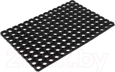 Коврик грязезащитный VORTEX 40x60 / 20096 коврик грязезащитный резиновый лапша vortex черно серый полосы 22408 40х60 см