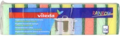 Набор губок для мытья посуды Vileda Радуга (10шт)