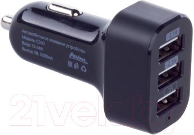Зарядное устройство автомобильное PARTNER ПР033320 USB 5.2A/3 USB