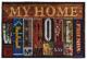 Коврик грязезащитный VORTEX Velur My Home 60x90 / 24245 -