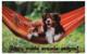 Коврик грязезащитный VORTEX Samba Собаки в гамаке 50x80 / 24217 -
