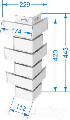 Угол для фасадной панели Docke Flemish (коричневый)