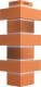 Угол для фасадной панели Docke Flemish (красный жженый) -
