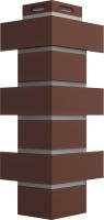 Угол для фасадной панели Docke Flemish (коричневый) -