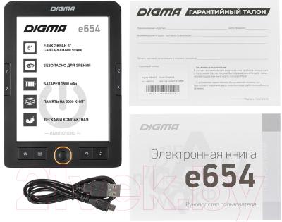 Электронная книга Digma E654 (черный)