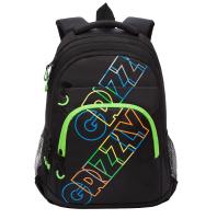 Рюкзак Grizzly RU-136-2 (черный/салатовый) -