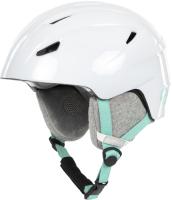 Шлем горнолыжный Glissade 8G8R9DFIRL / 17CRYSTAL-W1 (S, белый) -