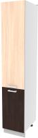 Шкаф-пенал кухонный Интерлиния Компо НШП-№2-2145 (дуб молочный/дуб венге) -
