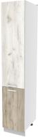 Шкаф-пенал кухонный Интерлиния Компо НШП-№2-2145 (дуб белый/дуб серый) -